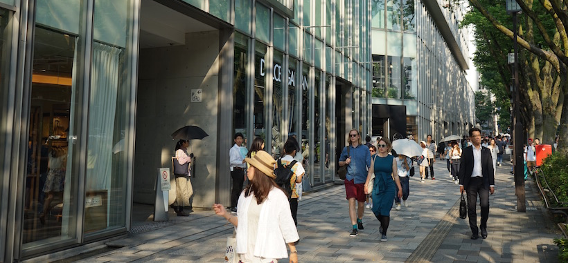 Omotesando visitors