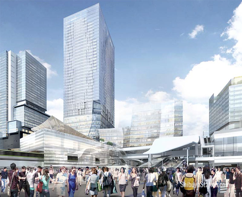Computer Rendering of Shibuya after new developments projected for completion in 2028.