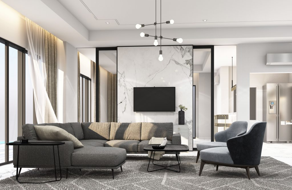 Interior of Tokyo luxury apartment for sale