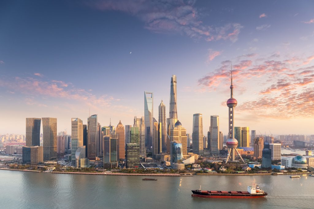 Shanghai skyline view for real estate investing in Japan comparison
